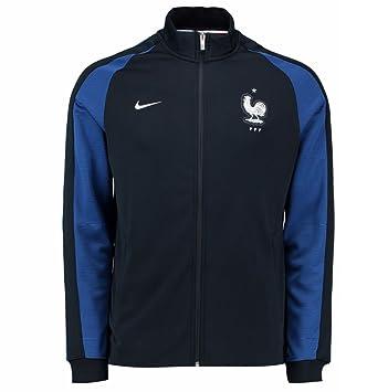 87076ba6e7 2016-2017 France Nike Authentic N98 Jacket (Navy) - Kids