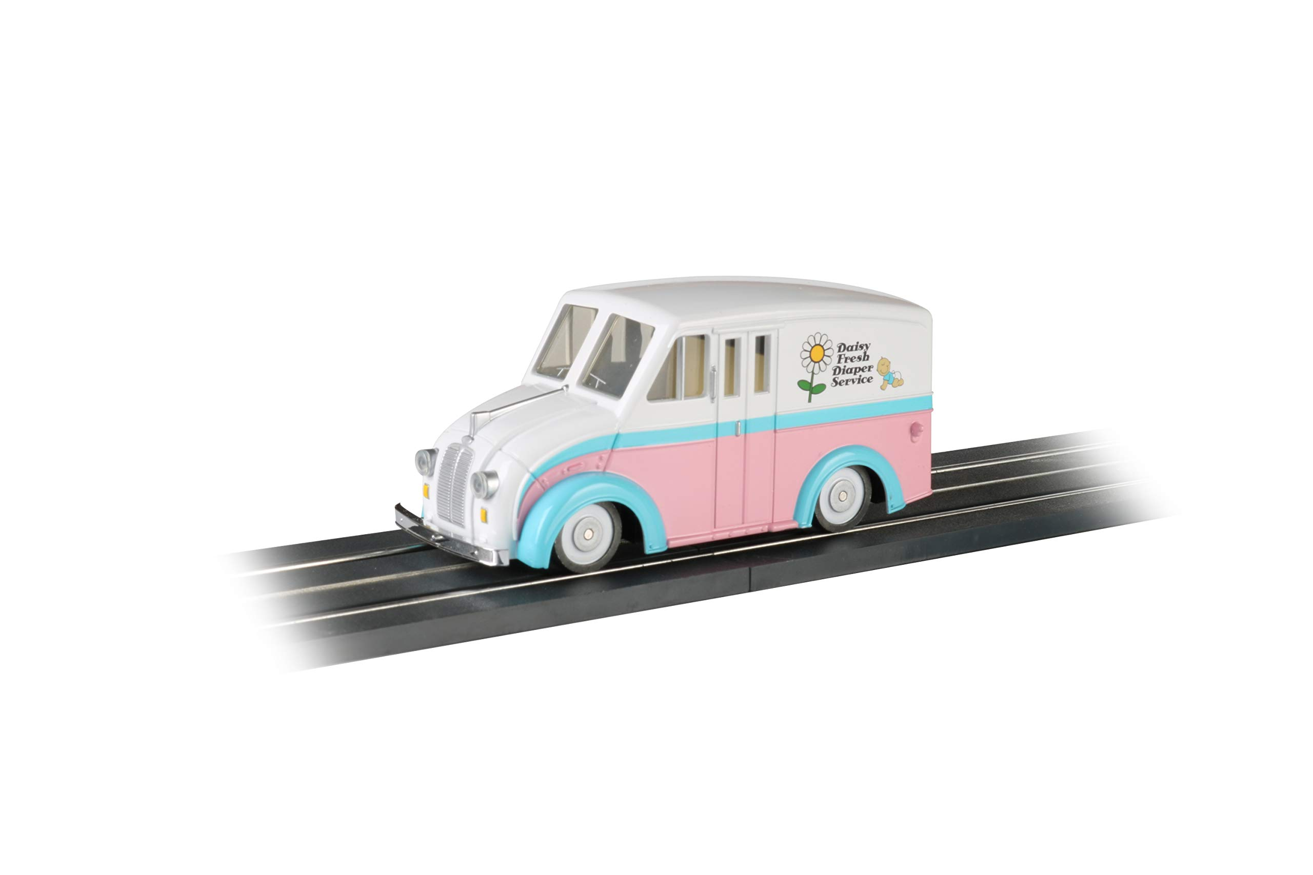 Bachmann Trains 42739 E-Z Street Vehicle - Delivery Van - Daisy Fresh Diaper Service - O Scale, Prototypical Colors