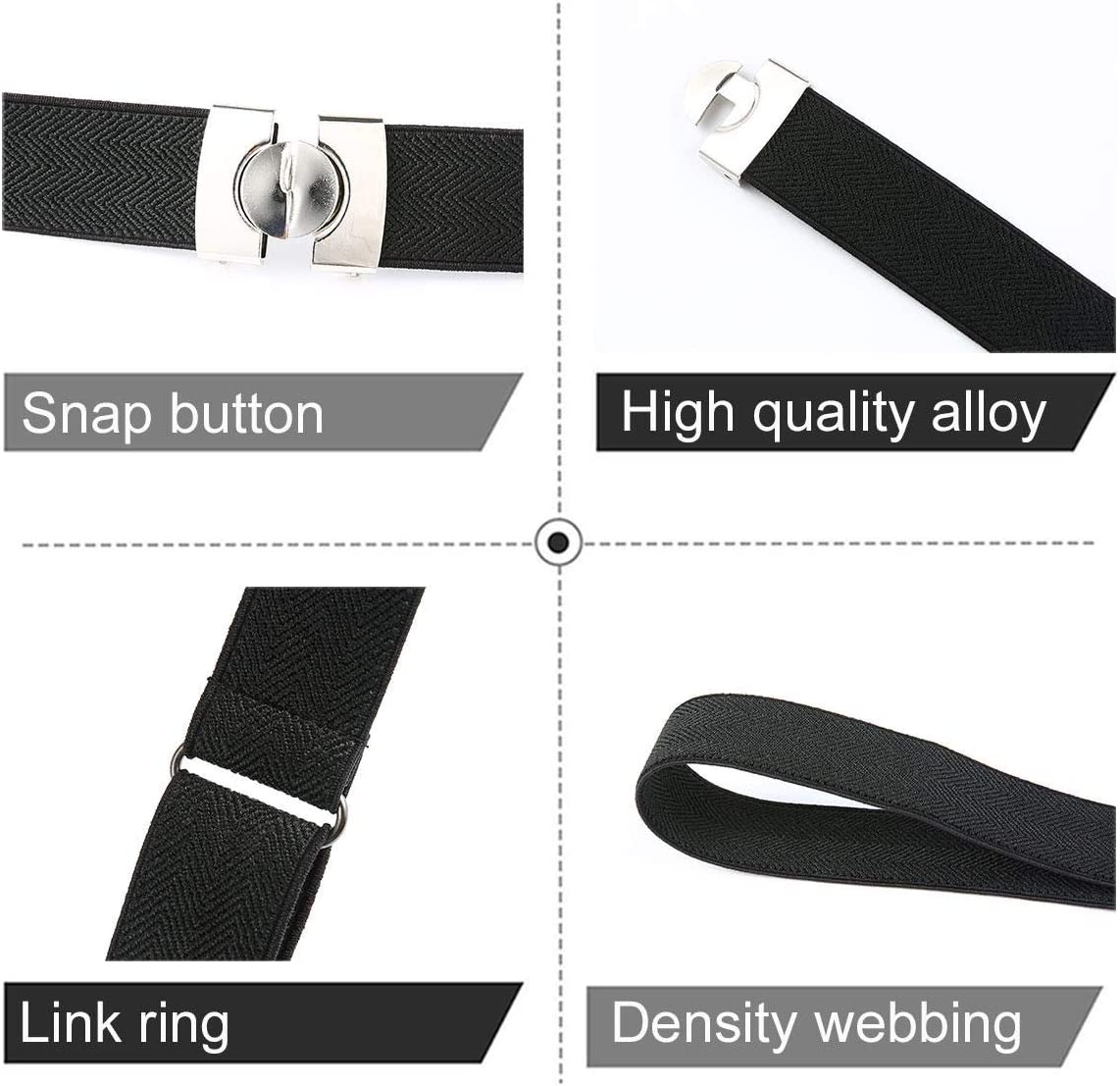 Buckless Invisible Elastic Belt Up to 59inch for Jeans Pants No Bulge No Hassle Two Ways to Wear Pawaca No Buckle Stretch Belt for Women//Men