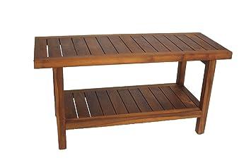 Perfect AquaTeak The Original 36u0026quot; Spa Teak Shower Bench With Shelf