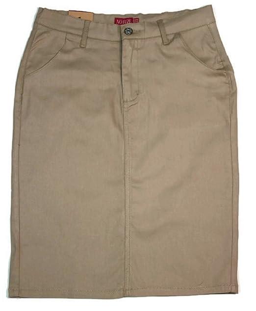 dcab2fc657988 No Fuze Women s Uniform 21 inch Stretch Plus Size Twill Skirt (Run ...