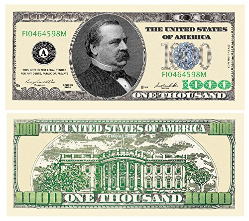 (American Art Classics One Thousand Dollar Bill - Novelty Money - Comes In Currency Protector)