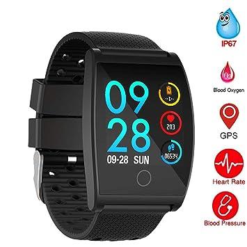 Montre Smart Watch Imperméable QS05 Tensiomètre Smartwatch GPS Fitness Tracker Moniteur de Fréquence Cardiaque Rappel Rappel