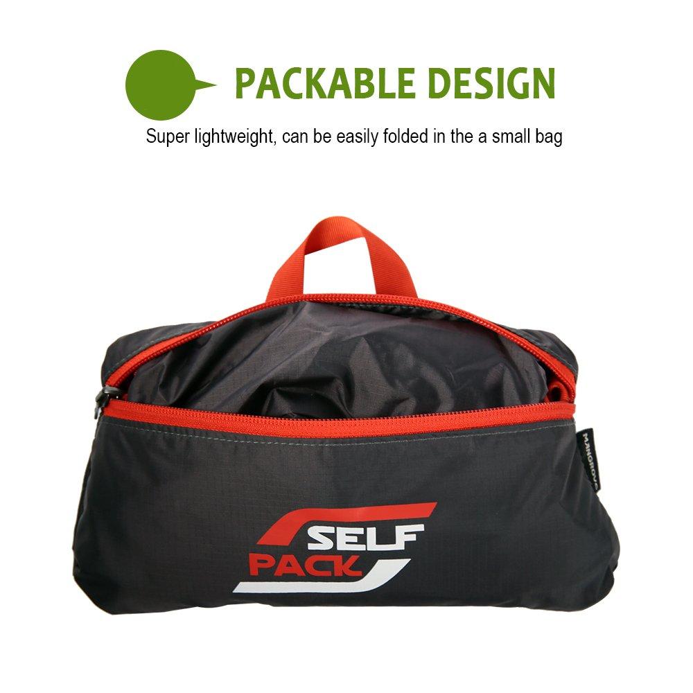 WANDF T302 Sac à bandoulière de voyage pliable Sac de sport Gym Nylon résistant à l'eau, Gris