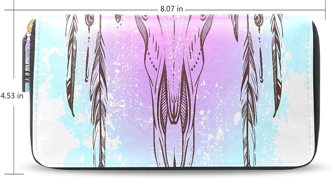 Ethnique Am/érindien Conception Bull Cr/âne Long Passeport Dembrayage Sacs /À Main Zipper Portefeuille Cas Sac /À Main Argent Organisateur Sac Titulaire carte cr/édit Pour Dame Femmes Fille Hommes Cadeau