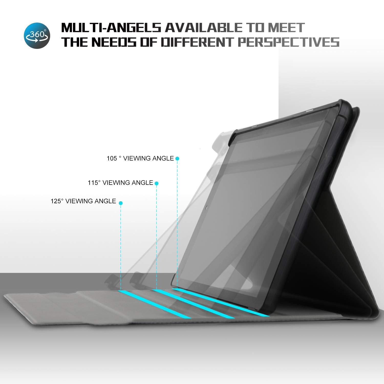 D/étachable Wireless Clavier Keyboard PU Housse pour Samsung Galaxy Tab A T515//T510 10.1 2019 Tablette(Noir,Doublure Jaune QWETY ELTD Clavier /Étui pour Samsung Galaxy Tab A T515//T510 10.1 2019,