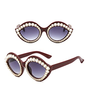 eac752235701 2018 New Lip Sunglasses Female Europe And The United States Personalized Plastic  Glasses Diamond-studded Sunglasses ( Color   A )