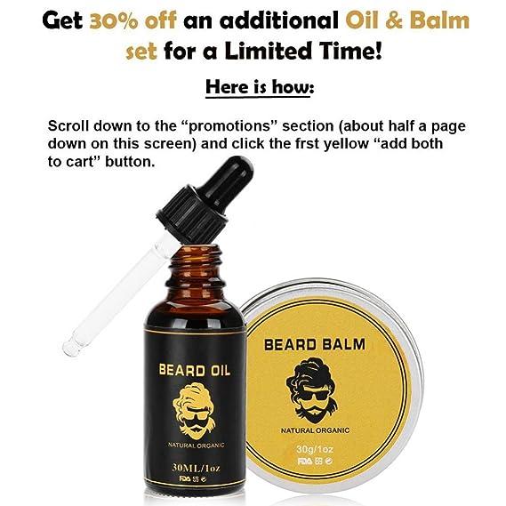 Kit Cuidado de Barba 8pcs, peine de peinado de barba, alineación y ribete, Crema Hidratante Suavizante Beard Care, Juego de regalo perfecto para hombres: ...