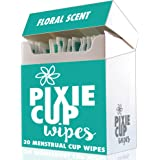 Pixie Menstrual Cup Wipes - The Recommended Wipes for Your Period Cups - 100% Alcohol Free - Biodegradable - Antiseptic - Antibacterial