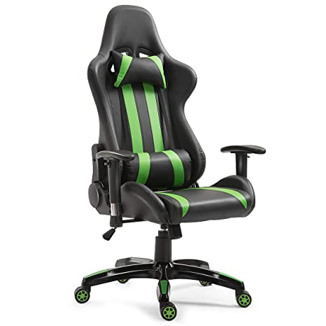 Amazon.com: Giantex Silla de gaming ergonómica estilo ...