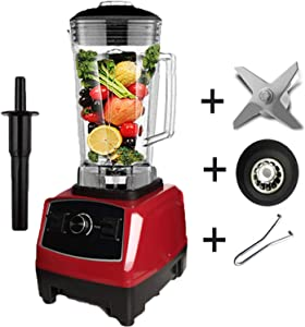 2200W Heavy Duty Commercial Blender Professional Blender Mixer Food Processor Japan Blade Juicer Ice Smoothie Machine,red full parts,AU Plug