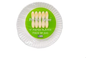 """Perfect Stix Paper Plate 9-300 Paper Plates White, 9"""" (Pack of 300)"""