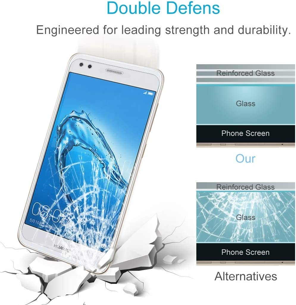 XHC Screen Protector Film 100 PCS for Huawei Y6 Pro 0.26mm 9H Surface Hardness 2.5D Curved Edge Tempered Glass Screen Protector Tempered Glass Film 2017