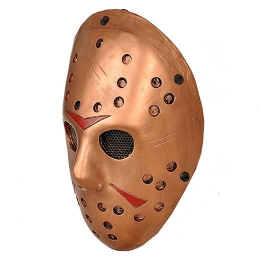 CCOWAY Disfraz Prop, Máscara de Jason Voorhees Freddy Hockey Festival, Halloween, Fiesta, Cosplay y más (Naranja): Amazon.es: Hogar