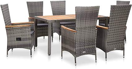 Polyrattan Sitzgruppe Gartenmöbel-Set Rattan-Set Rattan Essgruppe Garten-Set