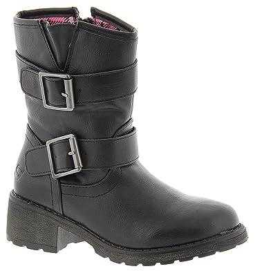 ec6871a6 Skechers Girls Junior Girls Haute Heel Boot in Black - UK 4: Amazon ...