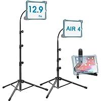 Ipad Tripod Stand, Height-Adjustable 20-67 Inch Floor Stand for Tablet, Gooseneck Stand Tripod for 9.5-14.5 Tablets/IPad…