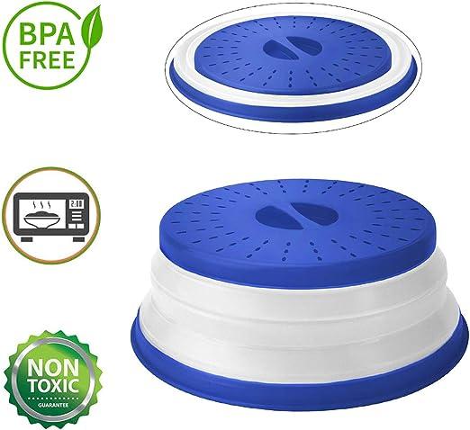 ANTEER Tapa Microondas Plegable con Ventilación Plastico 26cm Sin ...