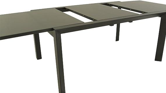 Mesa jardín Extensible de 160 cm a 220 cm, Aluminio Color ...