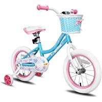 JOYSTAR Angel Girls Bike para 2-9 años 12 14 16 Bicicleta para niños de 18 pulgadas con ruedas de entrenamiento…