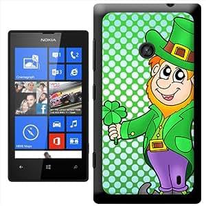 Fancy A Snuggle 'Leprechaun vestido de en verde para' carcasa Rígida para Nokia Lumia 520