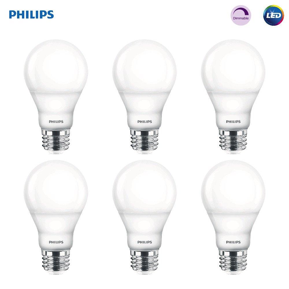 Philips 459057デイライト調光機能付きa19 60ワット相当LEDライト電球 8 Pack H&PC-53822 8 B01CAL18KW 8 Pack|ソフトホワイト  8 Pack