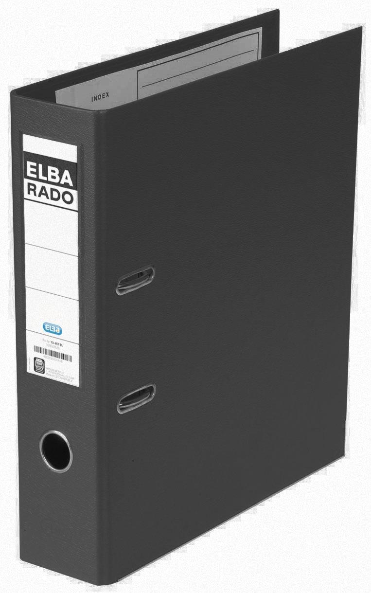 Elba Lever Arch File Rado Plast 80 Mm, For A4, Pvc Black Pvc Black - Folders (For A4, Pvc Black, Pvc, Black, A4, 570 Sheets, 80 Mm, 318 Mm)