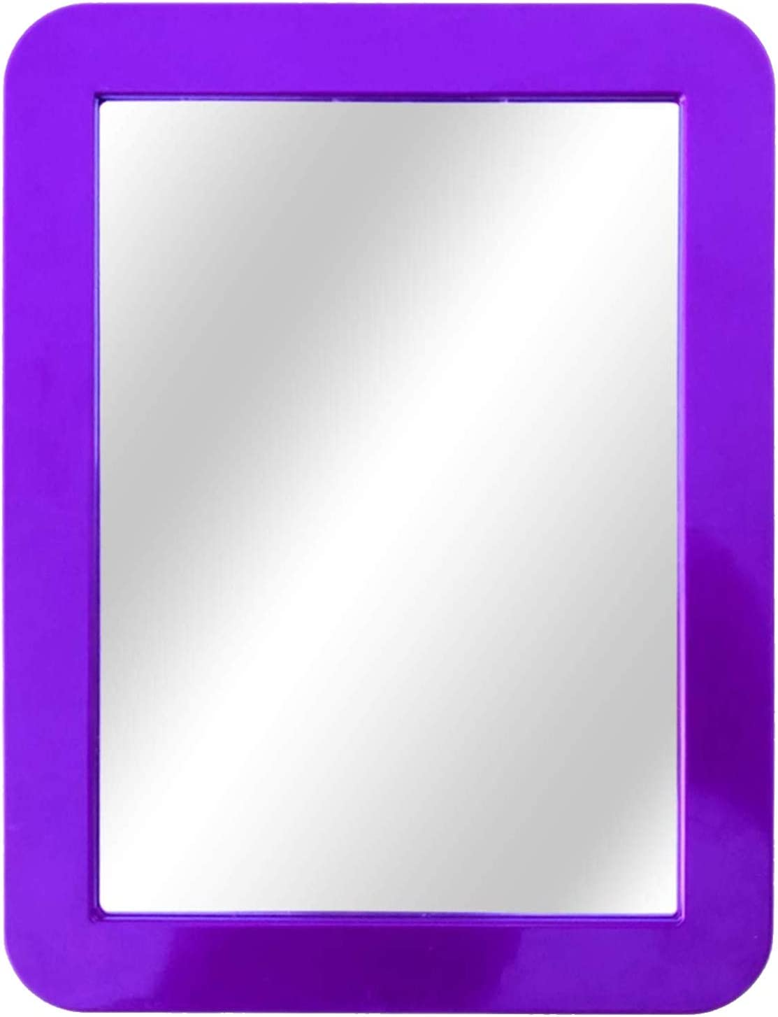 Kicko Purple Magnetic Mirror - 5x7 Inch - 1 Piece - for School Locker, Refrigerator, Home, Workshop or Office Cabinet