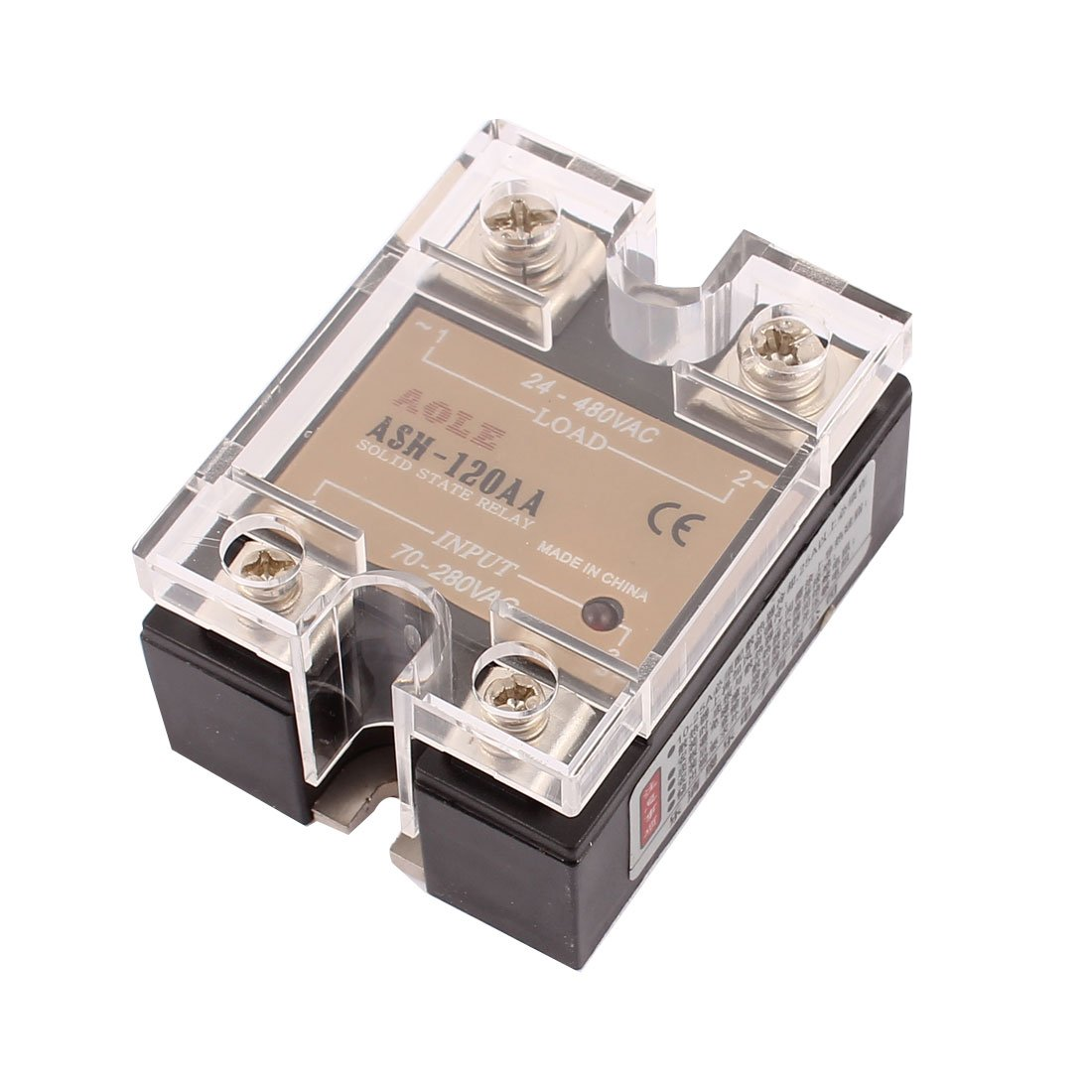 sourcingmap ASH-120AA 70-280VAC to 480VAC 120A Single Phase Solid State AC-AC Relay Authorized a16081800ux0794