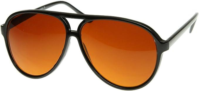 zeroUV - Retro Large Plastic Aviator Sunglasses with Blue Blocking Driving Lens Ditka Hangover Alan Burt Macklin FBI