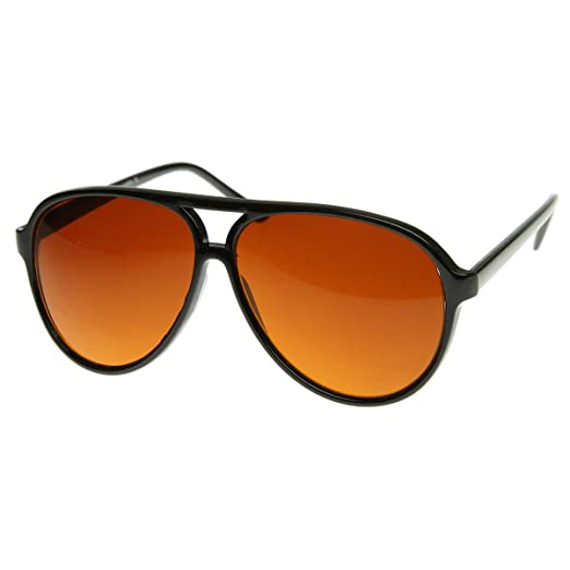 zeroUV - Retro Large Plastic Aviator Sunglasses with Blue Blocking Driving  Lens Ditka Hangover Alan Burt f0dae288f2