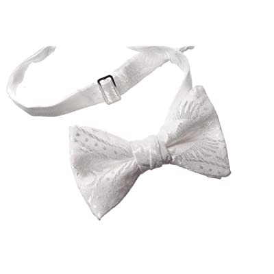 Boy's Communion Bow Tie White Clergy Pattern