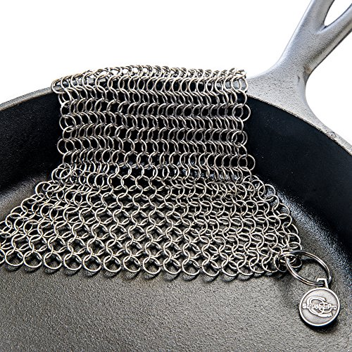 ScrubberPro Cast Iron Chainmail Solution Seasoned Cast Iron - XLarge, 8x6 Inch, from Steel