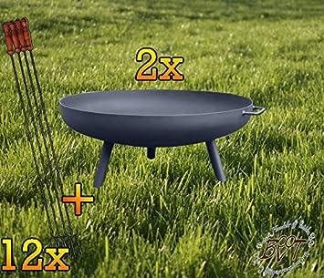72 cm Con Barbacoa/Grill: 12 x Parrilla para pescado Barbacoa Cubertería barbacoas Pass Carbón vegetal nuevo pies abschraubbar.: Amazon.es: Jardín