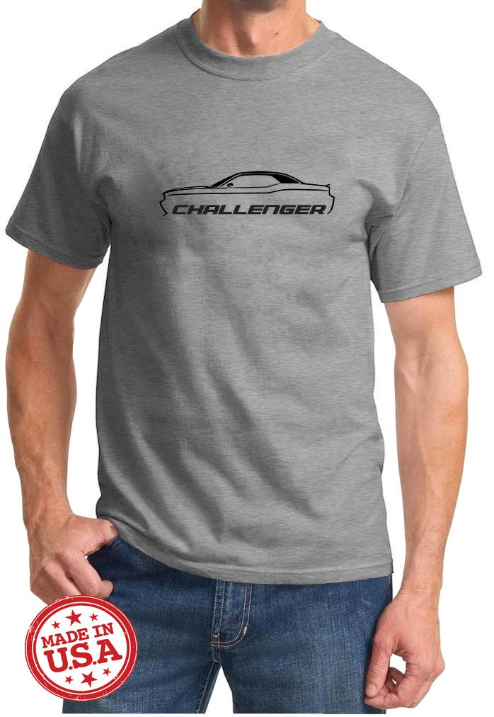 2010 17 Dodge Challenger Muscle Car Classic Outline Design Tshirt 3890