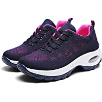 KUOTIAN Women's Walking Shoes Slip on Sock Sneakers Mesh Air Cushion Comfortable Platform Loafers