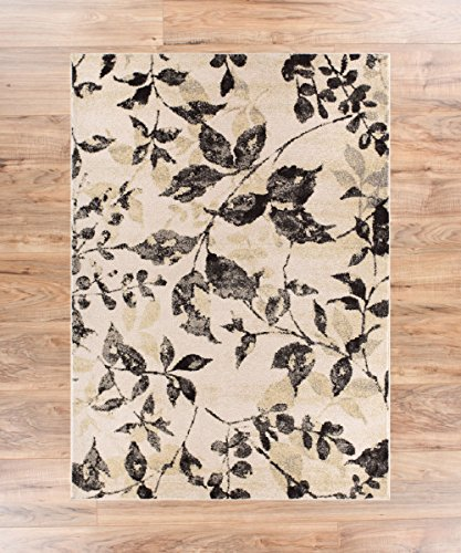 ivory floral vintage natural modern casual area rug thick soft plush shed free 8x10 rugs wayfair home depot lowes