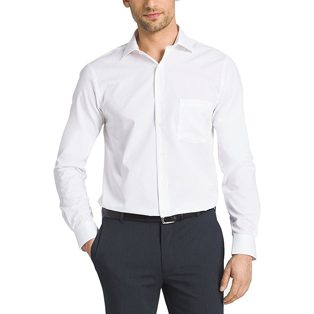 Kirkland Signature Mens Tailored Fit 100 Cotton Non Iron Spread