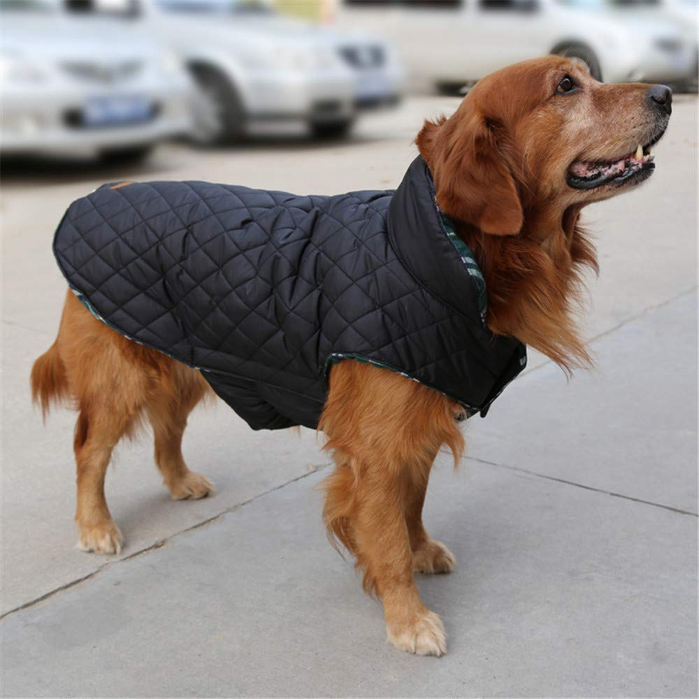 TFENG Hundemantel Hundejacke f/ür Hunde Welpen Gepolstert Puffer Umkehrbares Design Weste Regenmantel