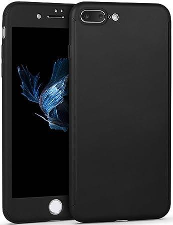 f9e82af42f IMIKOKO iPhone 8 Plus ケース 全面保護 強化ガラスフィルム 360度フルカバー 衝撃防止