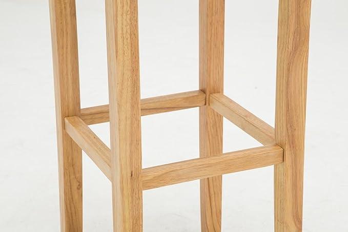 Clp sgabello in legno di caucciù judy con seduta imbottita e