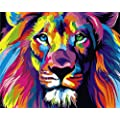 Diy Oil Painting Newsight Paintworks Paint By Number For Kids And Adults 16 X 20 Color Lion