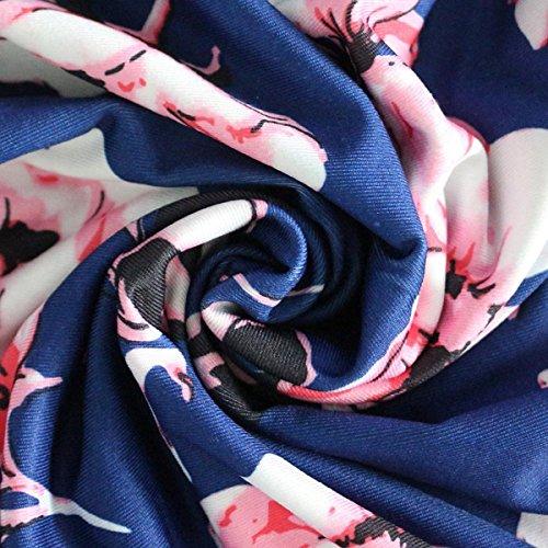 Wrap Plus Color tamaño Boho Cintura Cuello Vestido Maxi Sundress V Green Manga Floral Size Mujeres Corta Cintura XXL gr6qgw0