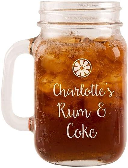 County Engraving – Ron y Coca Cola vidrio Mason Jar, único ...
