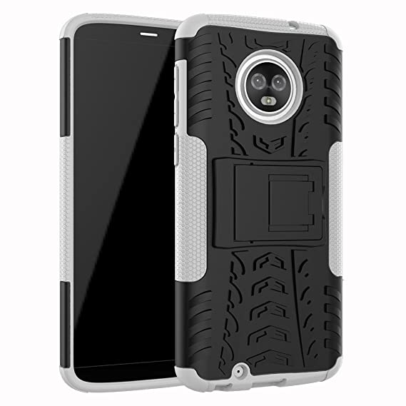 official photos ec790 b32cf JARNING Case for Motorola Moto G6 XT1925-6 XT1925-12 XT1925DL Heavy Duty  Shock Proof Armour Dual Protection Cover with Built-in Kickstand Premium ...