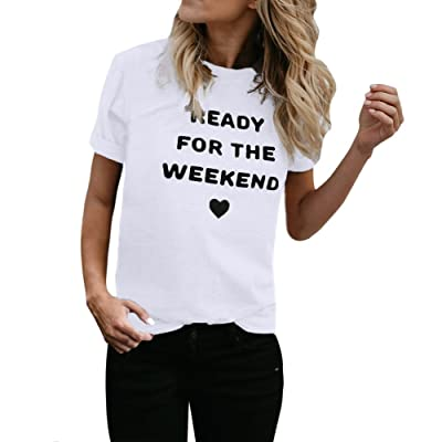 Cocal 2018 Women Casual Letter Tees Shirt T Shirt Blouse Tops