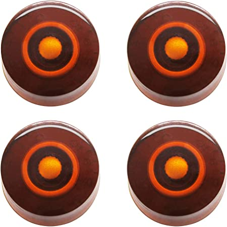 mxuteuk 4pcs Silver Electric Guitar Bass Top Hat Knobs Speed Volume Tone AMP Effect Pedal Control Knobs KNOB-S18