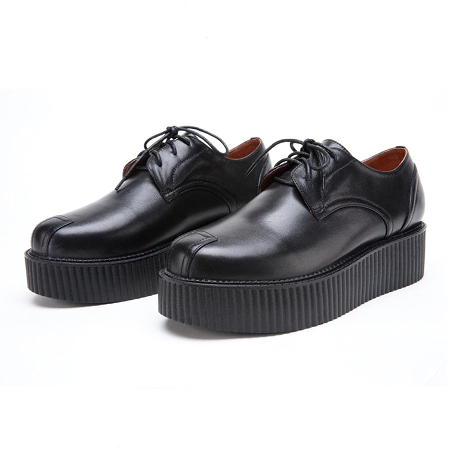 RoseG Men's Full Grain Leather Lace-Up Platform Creepers Classic Oxfords  Shoes: Amazon.ca: Shoes & Handbags