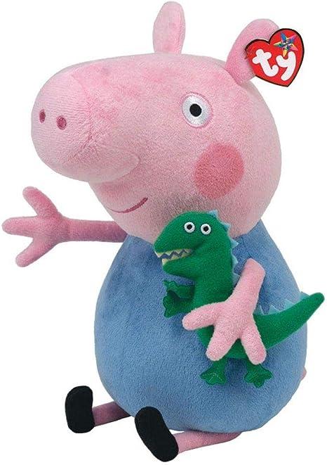 Peluche 25cm George con dinosauo Peppa Pig Originale: Amazon.it