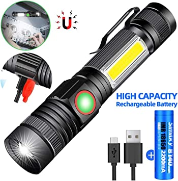 Mini Headlamp Head Torch LED Flashlight Rechargeable For Hiking Camping Workshop